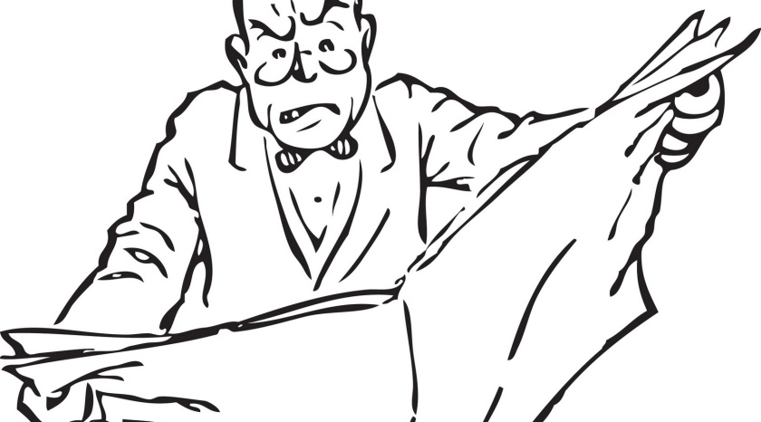 Angry Newspaper Guy