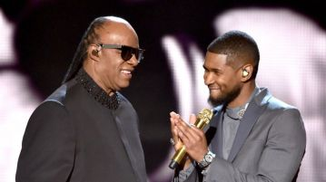 Usher and Stevie Wonder