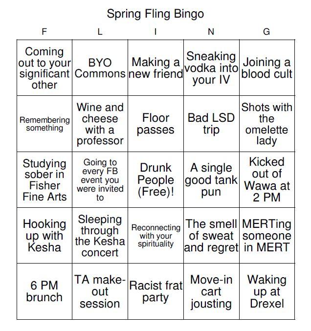 spring fling bingo 3
