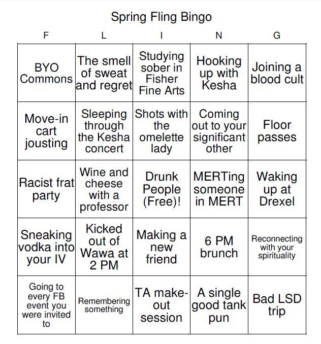 spring fling bingo 4
