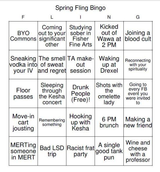 spring fling bingo 6