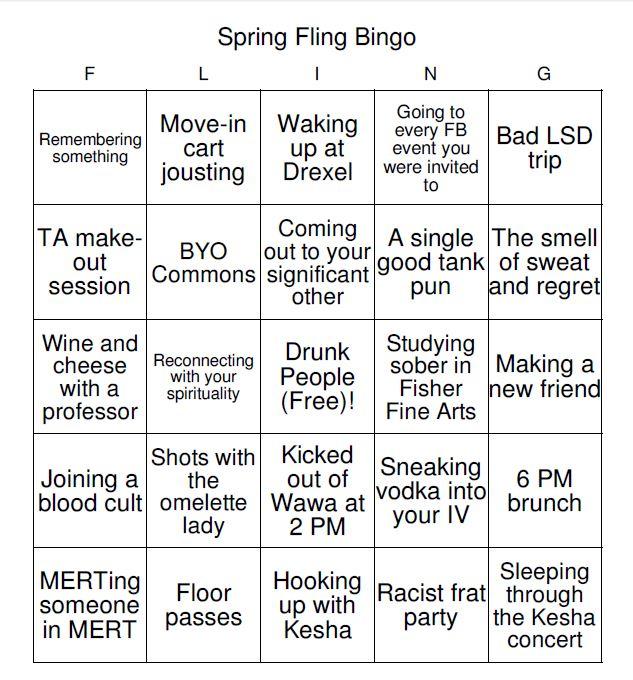 spring fling bingo 8